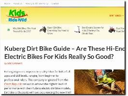 https://www.kidsridewild.com/ website
