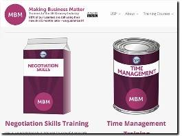 https://www.makingbusinessmatter.co.uk website