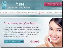 https://www.yehfacialplasticsurgery.com/ website