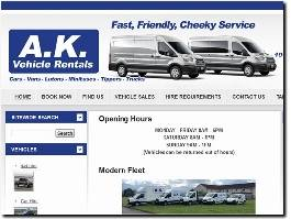 https://www.akrental.co.uk/ website