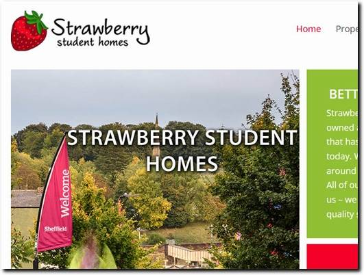 https://www.strawberrystudenthomes.co.uk/ website