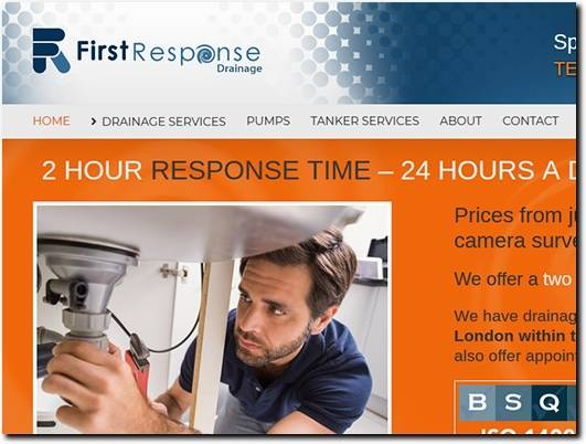 http://www.firstresponsedrainage.co.uk website