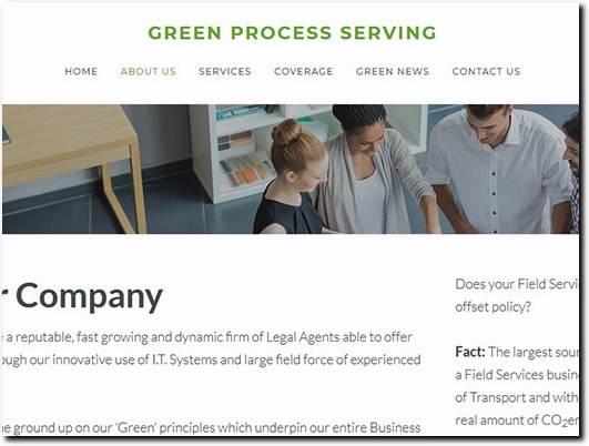 https://www.greenprocessserving.co.uk/ website