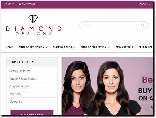 https://www.diamonddesignsuniforms.com/ website