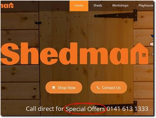 https://www.shedman.co.uk/ website