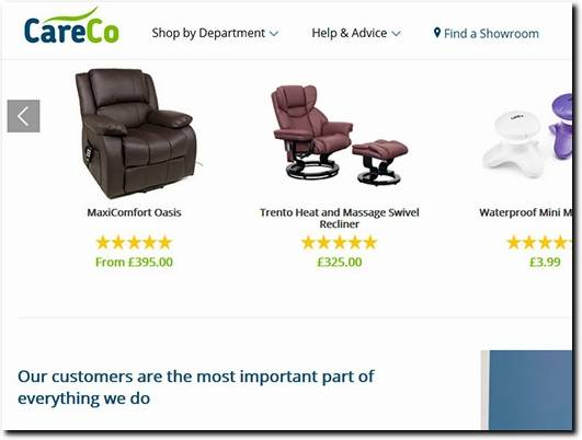 https://www.careco.co.uk/southampton-showroom.htm website