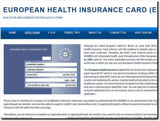 https://www.european-health-card.org.uk website