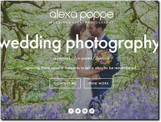 https://www.alexapoppeweddingphotography.com website