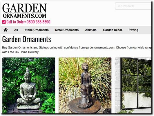 https://gardenornaments.com/ website
