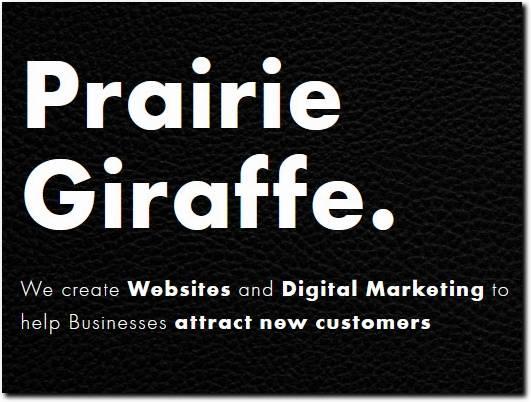 https://prairiegiraffe.com/ website